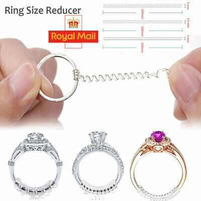 Universal Ring Size Adjuster Reducer Sizer SPIRAL STYLE Invisible Resizer Guard