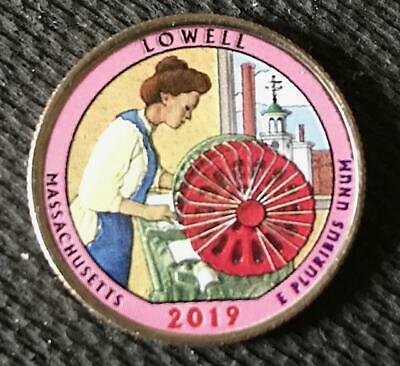 2019 D Colorized Lowell (Massachusetts) America The Beautiful Quarter