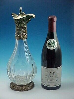 Handsome Gilt Sterling Silver & Crystal Claret Jug London 1992 By William Comyns