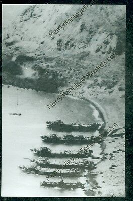 W.W.II. Naval Vessel, USS LST 724, Invasion(military E)#42 not mailed real photo