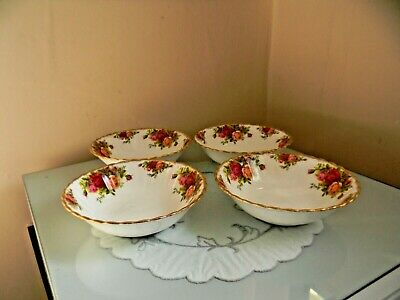 """Four Royal Albert Old Country Roses Cereal Bowls - 6.5"""""""