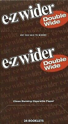 EZ Wider Double Rolling Papers 24 Booklets