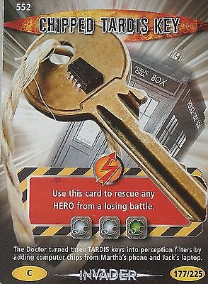 DOCTOR WHO<>BATTLES IN TIME TRADING CARD<>CHIPPED TARDIS KEY<>CARD No. 552