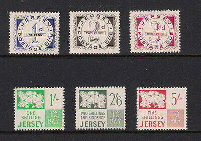 JERSEY 1969 PRE-DECIMAL POSTAGE DUE SET of 6 MNH