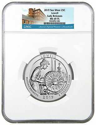 2019 Lowell 5 oz Silver ATB America Beautiful 25C Coin NGC MS69 PL ER SKU57854