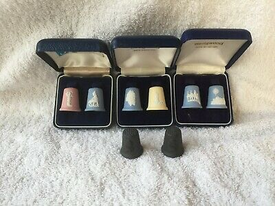 8  Wedgwood  jasperware  Thimbles  in excellent condition.