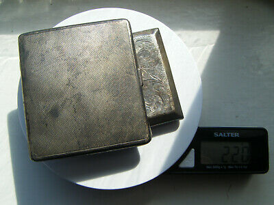 Vintage solid silver two cigarette cases lot Hallmarked Scrap or use.