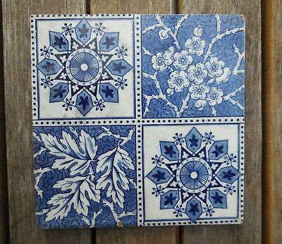 "Antique The Decorative Art Tile Co Blue & White 6"" X 6"" Tile"
