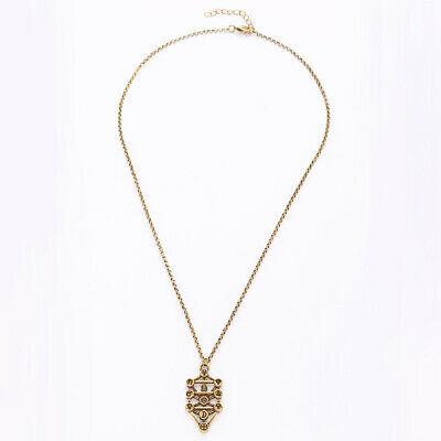 Golden Unisex Alloy Chain Kabbalah Sephirot Tree of Life Pendant Necklace
