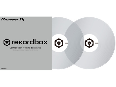 Pioneer RB-VD1-cl Clear Control Vinyl For use with Rekord Box, Pair , Clear