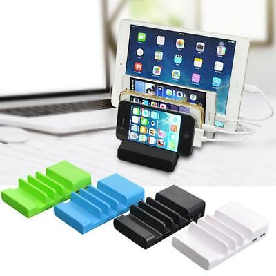 4 Port USB Charging Station Dock Stand Multi Chargers For Phones iPad Desktop AU