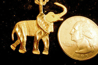 bling gold plated elephant animal myth luck pendant charm chain necklace jewelry