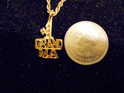 bling gold plated granny #1 grand ma fashion pendant charm necklace jewelry gp