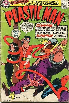 Plastic Man # 1 - 1St Silver Age Plastic Man - Key - Gil Kane Cover And Art