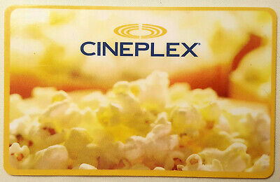 Cineplex Cinema $50 CAD Gift Card for admissions, food, and merchandise