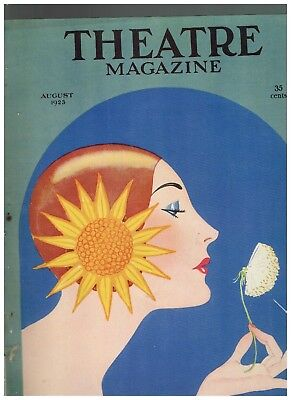 August 1923 Theatre Magazine with Baskerville cover