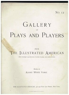 RARE Vintage Gallery of Plays and Players 1897