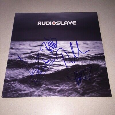 AUDIOSLAVE signed autographed OUT OF EXILE LP CHRIS CORNELL+3 BECKETT BAS LOA