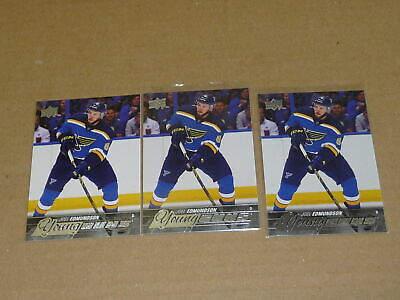2015/16 Upper Deck YOUNG GUNS RC/ROOKIE JOEL EDMUNDSON LOT OF 3 BLUES #207