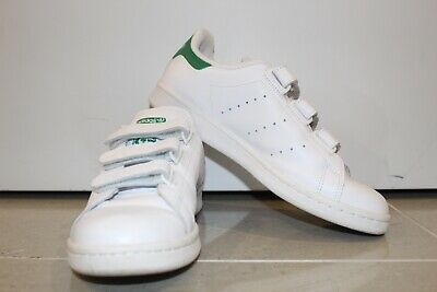 Mens Adidas Originals Stan Smith As New White Green Shoe Sneakers AUS 7.5 US 7.5