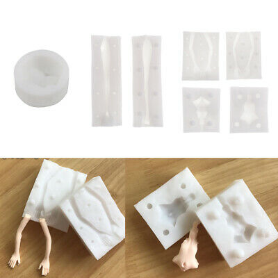 Face&Body Silicone Mold Polymer Clay Craft DIY Fondant Cake Decorating Mould
