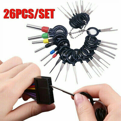 26Pcs Connector Pin Extractor Kit Electrical Wire Car Auto Terminal Removal Tool