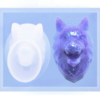 3D Wolf Resin Clay Gypsum Mould Handmade Fondant Cake Candy Chocolate Mold