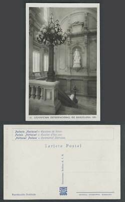 Spain National Palace Ceremonial Staircase, Barcelona Expo' 1929 Old RP Postcard