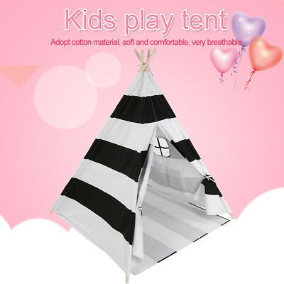 Cotton Canvas Kids Teepee Tent Childrens Wigwam Indoor Outdoor Large Play House