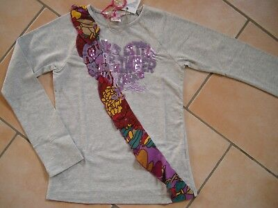 (97) Nolita Pocket Girls Shirt + Volants Glitzer Besatz & Logo Stickerei gr.128