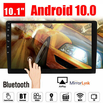 "10.1"" Android 9.1 Double 2Din Car Stereo Radio GPS Wifi OBD2 Mirror Link Player"