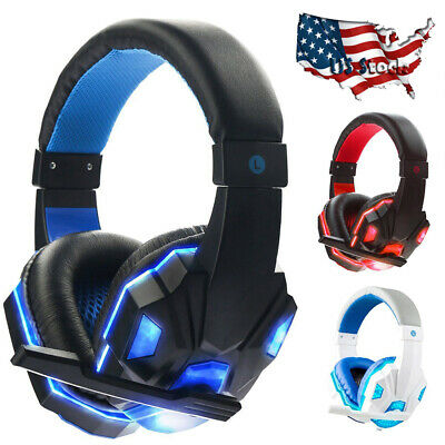 Gaming Headset Stereo Surround Headphones 3.5mm Wired With Mic For PS4/3 Laptop