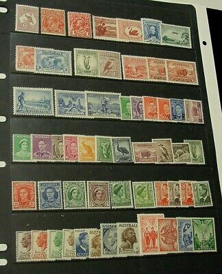 Collection of 211 Australia Mint Unhinged pre-decimal stamps.