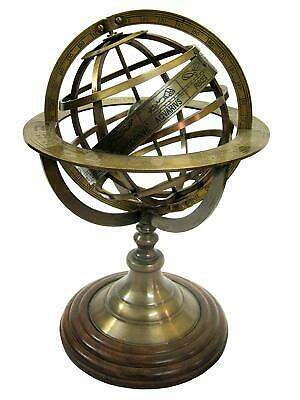 Brass Antique ARMILLARY Sphere 8 Inch Collectible Astrolabe Globe Vintage Decor