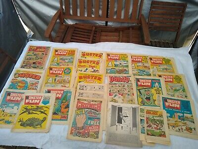 Job Lot Vintage Comics 1970s  Monster Fun, Buster TOM & JERRY DANDY ALL AS SEEN