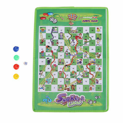 2x Ludo Play Board Mat Snake & Ladders Family Traditional out Door Game Kids Toy