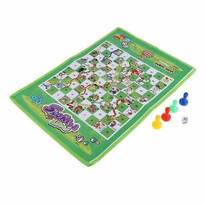 Mini Snakes & Ladders and Ludo Play Mats Traditional Family Children Games