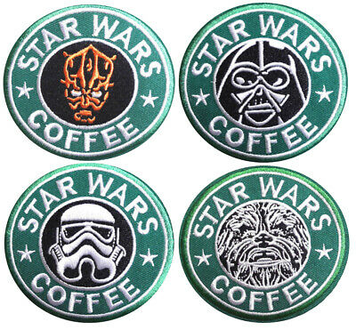 STARBUCKS Coffee Zombie Silver  7.5cm Embroidered Sew or Iron on Badge