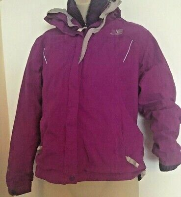 Girls Karrimor Fleece Lined Coat Age 11-12 146-152Cm 2 Layers Warm Purple Coat