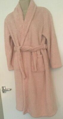 Girls Pink F&F Dressing Gown With Glitter Detail 11-12 Years (Postage Deal) Robe