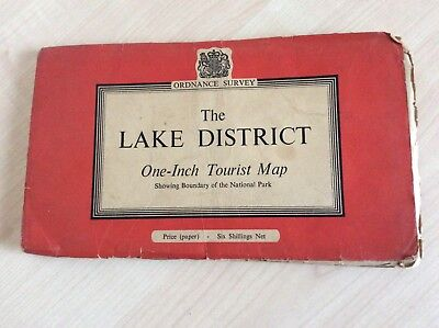 The Lake District One-Inch Tourist Map : Ordnance Survey 1960