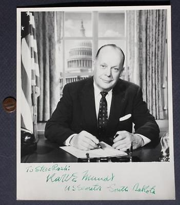 1948-73 South Dakota Senator & Congressman Karl Mundt signed/autographed photo!*