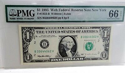 """Add a  RARE *Web Note* PMG """"66"""" to your Collection Choice UNC. 1995 - FREE SHIP"""
