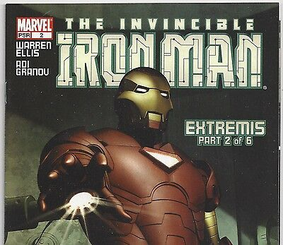 The Invincible IRON MAN Vol. 4 #2 Extremis Part 2 from Feb. 2005 in VF- con. DM