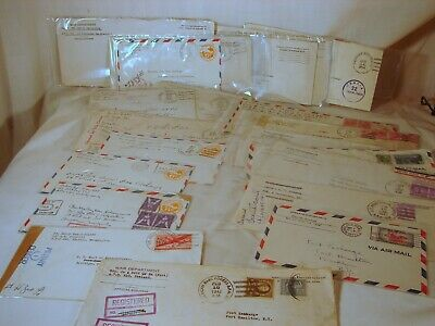 23 Old US Navy & Army WWII Mailed Envelopes, Censor Stamped & Signed, Excellent