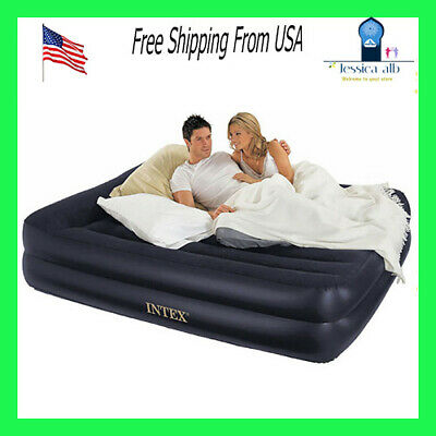 HIFORT Queen Size Comfort Air Mattress Blow Up Elevated Raised Durable Guest Bed