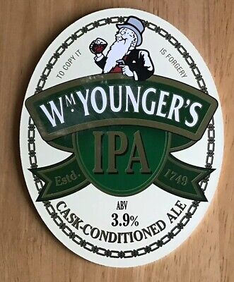 Wm. Younger's  William Younger's Brewery Edinburgh -  IPA- Beer Pump Badge Clip