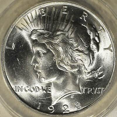 1923 Peace Silver $1 ANACS MS65 Beautiful Blast White dollar!