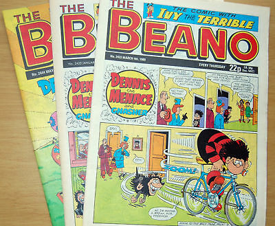 Beano Comic From 1989 - Choose Issue - Ideal Fun Gift For Birthday Anniversary