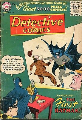 Detective # 235 - Origin Of Batman - Key -Sheldon Moldoff Art -Bill Finger Story